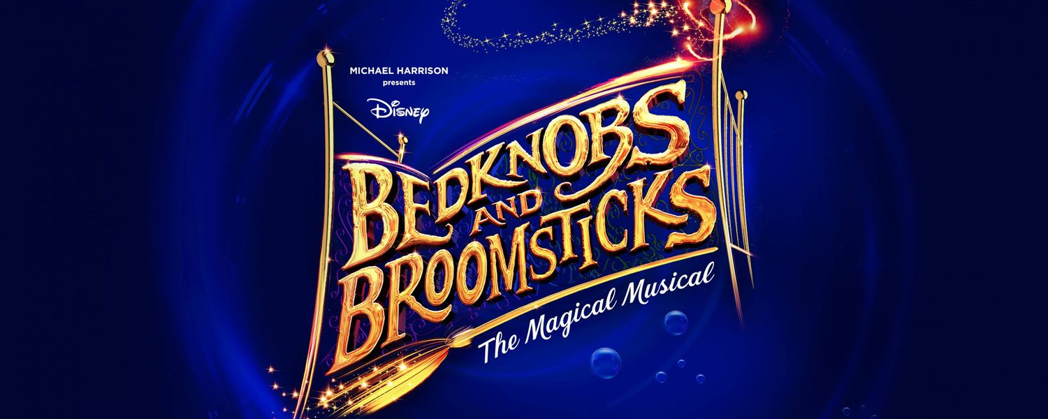 Bedknobs and Broomsticks title treatment logo